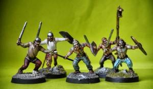 Guerrieri Celti,miniaturein plastica scala 28mm Warlord Games, pittura giallinovagabondo