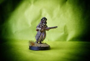 Goumier, miniatura 28mm metallo Artizan Designs, pittura giallinovagabondo