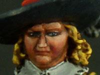 Particolare del volto,Nobile Inglese Parlamentare,Guerra civile inglese, Warlord Game 28 mm in metallo, pittura STE