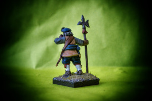 Sergeant Scots Covenanters,English Civil War,miniatura metallo 28mm Warlord Games,pittura giallinovagabondo