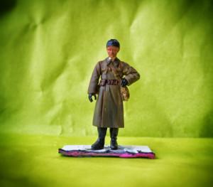 Il soldatino dopo il lavaggio con inchiostro seppia