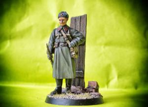 Fante Sovietico WWII,soldatino in resina Verlinden scala 1:72, pittura giallinovagabondo