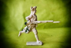 Soldatino Svizzero reggimento De Diesbach resina 40mm mezzotondo,fusione giallinovagabondo