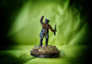Ufficiale Tedesco,soldatino in plastica scala 1:72,pittura giallinovagabondo