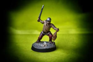 Guerriero Celta,miniatura in plastica 28mm Warlord Games,pittura giallinovagabondo