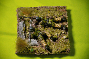 German Fallschirmjäger MG42  team , soldatini in plastica scala 1/72,pittura giallinovagabondo