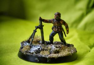 Mortaio Deutsche Panzergrenadiere, soldatino plastica scala 1/72 Revell,pittura giallinovagabondo