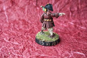 Long John Silver , miniatura 28mm in metallo Wargames Foundry,pittura giallinovagabondo