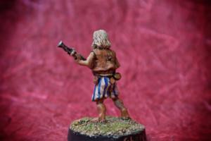 Ben Gunn,miniatura 28 mm metallo Wargames Foundry,pittura giallinovagabondo