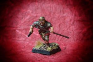 Ausiliario Romano,miniatura in plastica 28mm Warlord Games,pittura giallinovagabondo