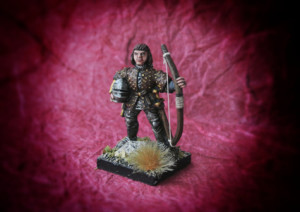 Captain of Archers, miniatura metallo 28mm Front Rank,pittura Giallinovagabondo