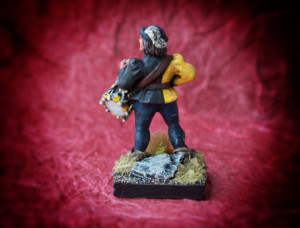Drummer War of Roses, miniatura metallo 28mm Front Rank, pittura giallinovagabondo