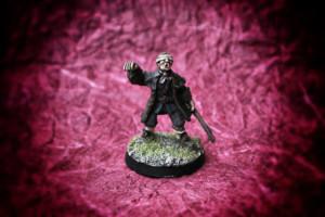 Pew il pirata,miniatura in metallo 28mm Wargames Foundry,pittura giallinovagabondo