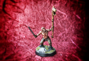 Celt Standard Bearer,miniatura 28mm plastica Warlord Games,pittura giallinovagabondo