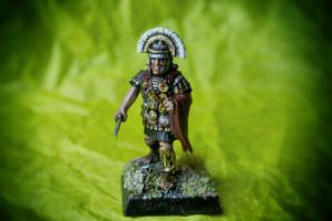 Centurione Praetorian Guard,miniature 28mm plastica Warlord Games,pittura giallinovagabondo