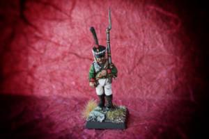 Russian Grenadier,Infantry Rgt. Mourmanski 1811-1815, miniatura plastica 28mm Warlord Games,pittura giallinovagabondo