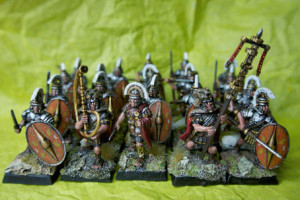 Praetorian Guard,miniature 28mm plastica Warlord Games,pittura giallinovagabondo