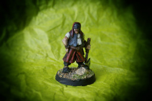 Headsman, miniatura 28mm metallo Wargames Foundry, pittura giallinovagabondo