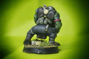 Ork Boyz ,miniatura plastica 28mm Games Workshop,pittura giallinovagabondo