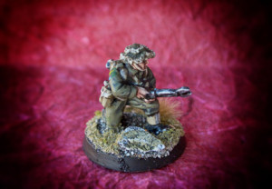 Canadian Enginer,miniatura 28mm metallo Warlord Games,pittura giallinovagabondo