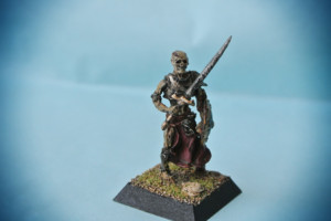 Undead Warrior, miniatura metallo 28mm Rackam,pittura giallinovagabondo