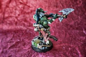 Guaztatore Orko, miniatura in plastica 28mm Games Workshop,rielaborazione e pittura giallinovagabondo