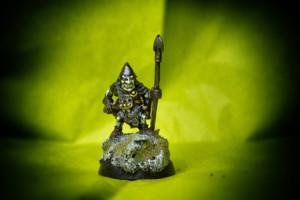 Goblin,Ral Partha 25 mm metallo, pittura giallinovagabondo