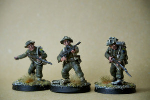Canadian BREN LMG Infantry Squad,miniature 28 mm plastica Warlord Games,pittura giallinovagabondo