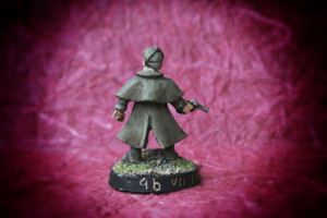 Sherlock Holmes,miniatura metallo Wargames Foundry 28mm, pittura giallinovagabondo