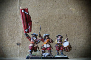 Swedish Command Group,miniature plastica 28mm Warlord Games,pittura giallinovagabondo