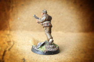 British Commandos,miniatura metallo 28mm Artizan Designs,pittura giallinovagabondo