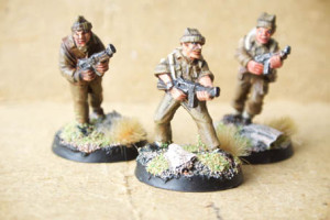 British Commandos,miniature metallo 28mm Artizan Designs,pittura giallinovagabondo