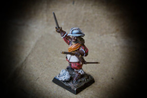 Colonel, Yellow Regiment Swedish Infantry, miniatura plastica 28mm Warlord Games,pittura giallinovagabondo