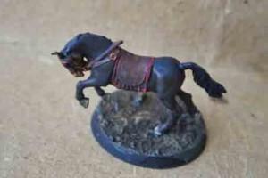 il cavallo dopo il passaggio degli inchiostri sui colori base