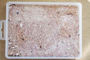 Sabbia di diverse granature