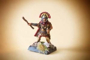 Centurione Legionari Romani Veterani, miniature in plastica 28mm Warlord Games,pittura giallinovagabondo