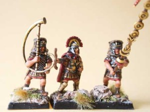 Command Group Legionari Romani Veterani, miniature in plastica 28mm Warlord Games,pittura giallinovagabondo