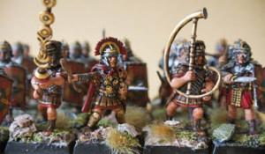 Legionari Romani Veterani, miniature in plastica 28mm Warlord Games,pittura giallinovagabondo