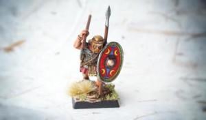 Early Imperial Romans Auxiliaries, miniatura 28mm plastica Warlord Games, pittura giallinovagabondo