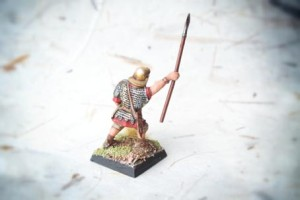 Early Imperial Romans Auxiliaries, miniatura 28mm plastica Warlord Games, pittura giallinovagabondo