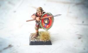 Early Imperial Romans Auxiliaries, miniatura28mm plastica Warlord Games, pittura giallinovagabondo
