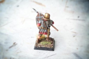 Early Imperial Romans Auxiliaries, miniature 28mm plastica Warlord Games, pittura giallinovagabondo