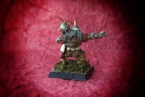 Goblin, miniatura 25mm metallo Grenadier scultore Nik Lund, pittura giallinovagabondo
