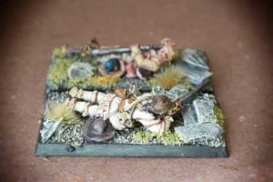 Riflemen Advancing/Skirmishing American War of Indipendence, miniature in metallo 28mm Perry Miniatures,pittura giallinovagabondo