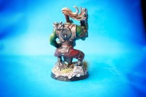 Ork Boyz, miniatura plastica Games Workshop scala 28 mm, pittura e rielaborazione giallinovagabondo