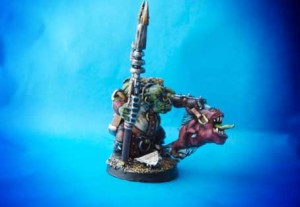Runtherd, miniatura in plastica 28mm Games Workshop, pittura giallinovagabondo