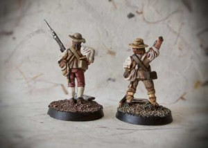 Southern Militia AIW, miniature metallo 28 mm Perry Miniatures,pittura Giallinovagabondo