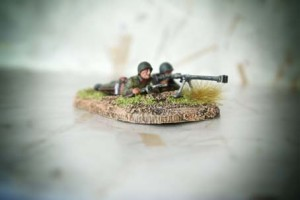 Soviet Anti Tank Team, miniature plastica Zvezda scala 1/72, pittura giallinovagabondo