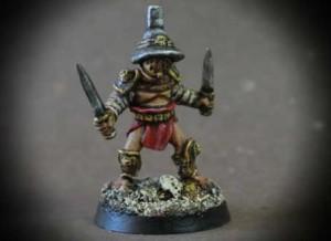 Dimachaerus miniatura 28mm metallo, Crusader Miniatures, pittura Giallinovagabondo