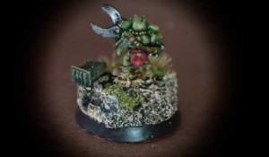 Gretchin Armiere, miniatura in metallo scala 28mm Games Workshop,pittura Giallinovagabondo
